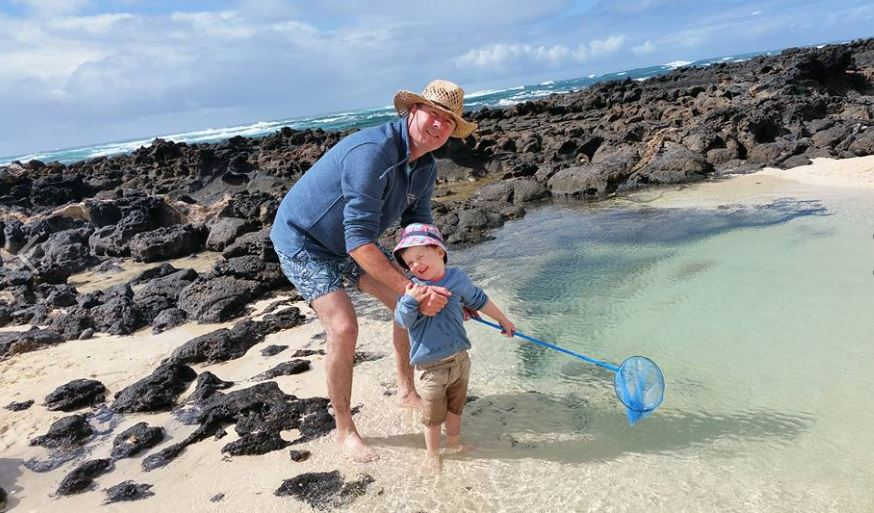 Happy Times - sunshine, rock pools, fishing net