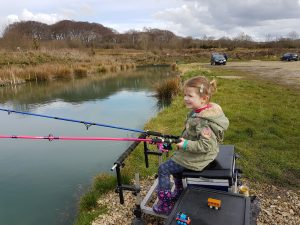 Katie Bagging Up Bradshaw Hall Fishery Lake 8