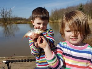 Sycamore Fisheries is a brilliant venue for kids, and the staff recommended we fish a corner of  Willow Lake that was just solid with small fish