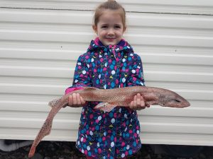Kate with a decent dog fish