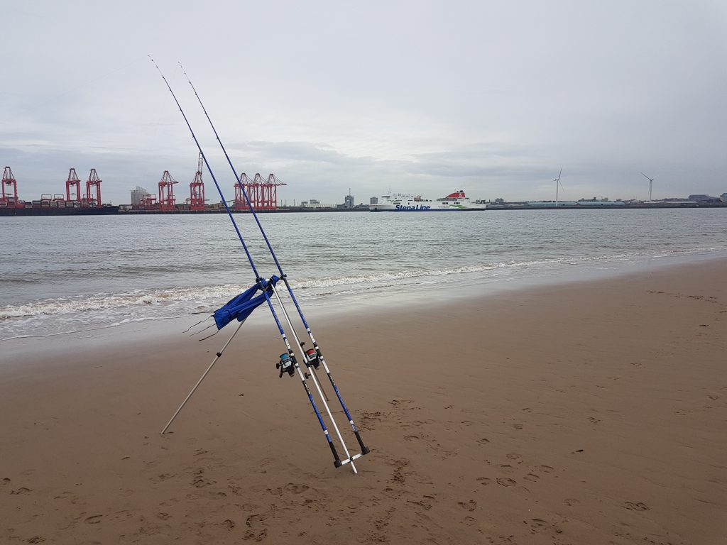 Fishing at Perch Rock