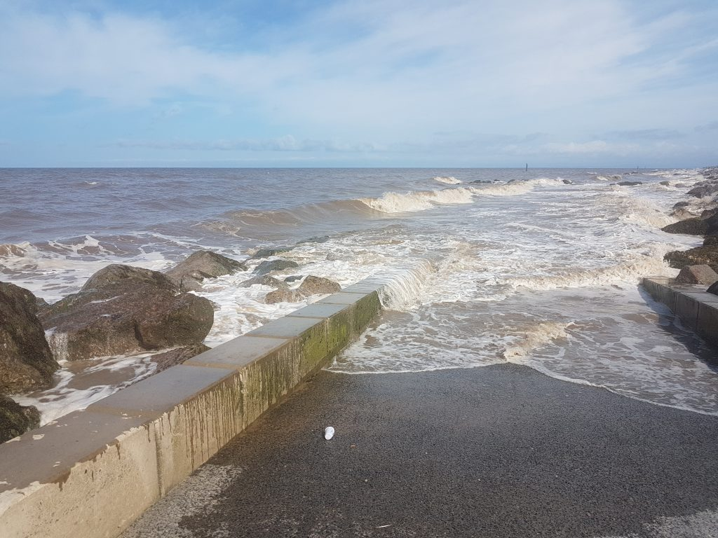 The Slipway At Rossal - impossible in a 20mph onshore wind two hours before high tide