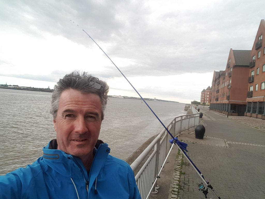 Fishing At Mariners Wharf Liverpool